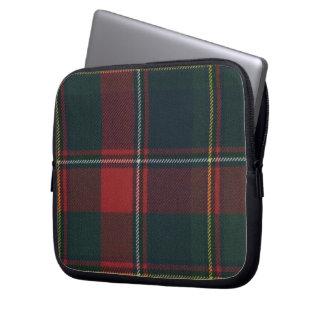 Quebec Tartan Neoprene Zippered Laptop Sleeve