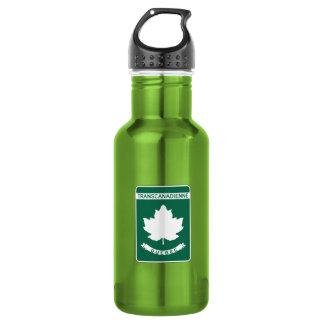 Quebec, Trans-Canada Highway Sign 18oz Water Bottle