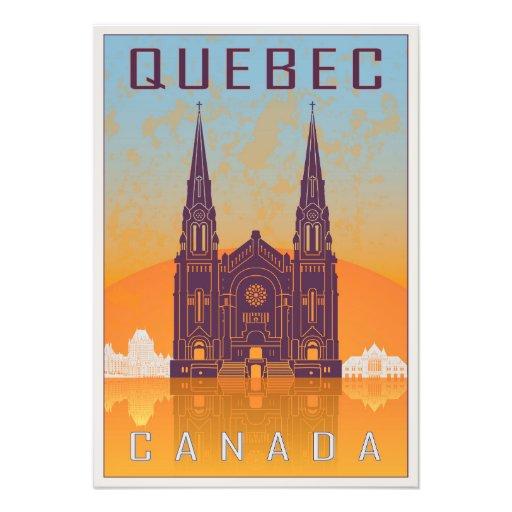 Quebec vintage poster impresiones fotograficas