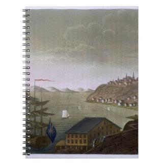 Quebec y el St. el río Lawrence, platean 4 de 'L Libro De Apuntes