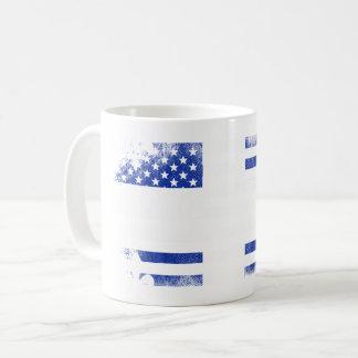 Quebecois American Flag   Quebec Canada and USA Coffee Mug