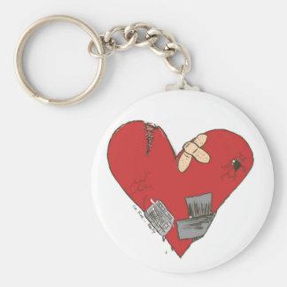 Quebrado-Corazón Llavero Redondo Tipo Pin