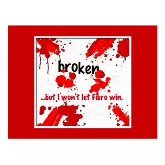 Quebrado, postal del Fibromyalgia