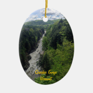 Quechee Gorge, Vermont Ceramic Ornament