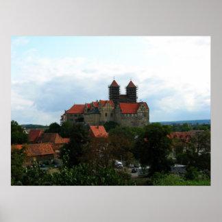 Quedlinburg castle hill poster