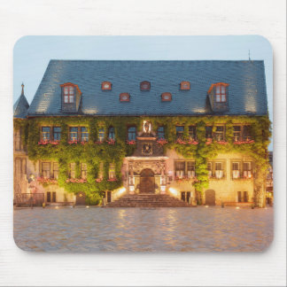 Quedlinburg Town Hall at night photo Mouse Pad