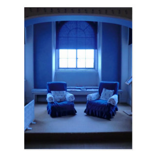 Queen Adelaide's Blue Room at Sudbury Hall Postcard