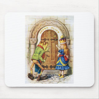 QUEEN ALICE AND THE FROG IN WONDERLAND MOUSE PAD