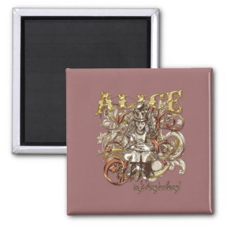 Queen Alice Carnivale Style (Gold Version) Magnet