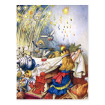 Queen Alice Experiences Fireworks in Wonderland Postcards