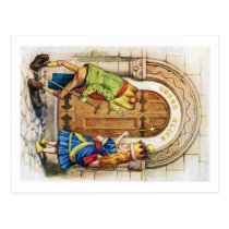 Queen Alice & the Frog in Wonderland Postcard