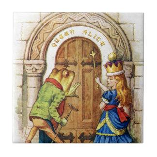 Queen Alice & the Frog in Wonderland Tile