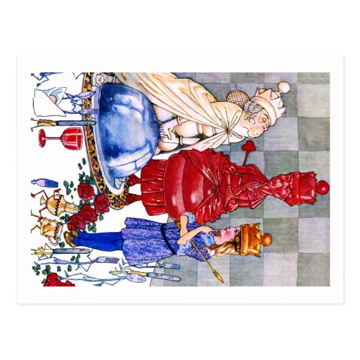 Queen Alice, the Red Queen and White Queen Postcard