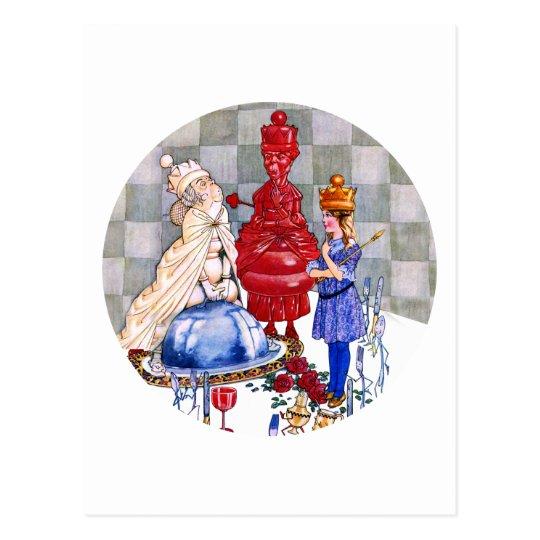 Queen Alice, The Red Queen & The White Queen Postcard