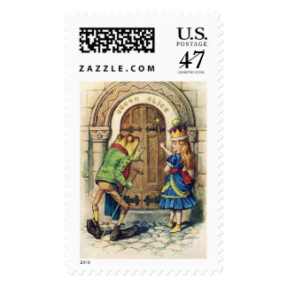 Queen Alice through the looking glass Postage Stamp