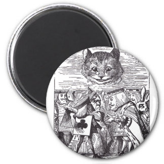 Queen and Cheshire Cat 2 Inch Round Magnet