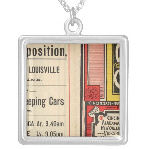 Queen and Crescent Route Square Pendant Necklace