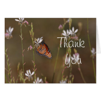Queen and milkweed thank you card