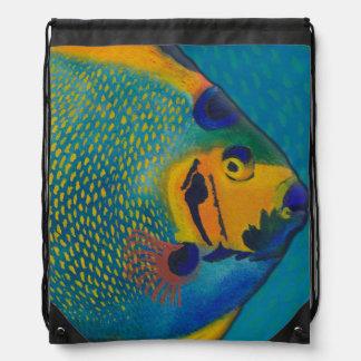 Queen Angelfish Drawstring Backpack Drawstring Bags