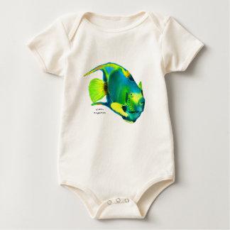 Queen Angelfish Organic Baby Bodysuit