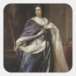 Queen Anne, 1703 Square Sticker