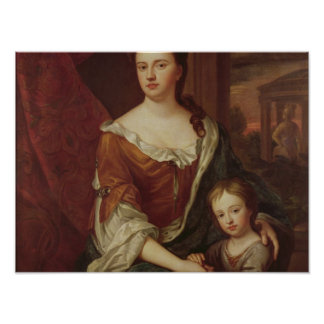 Queen Anne and William, Duke of Gloucester Poster