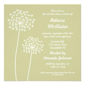 Queen Anne Bridal Shower Invitation