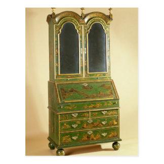 Queen Anne bureau cabinet with ball feet, c.1710 Postcard