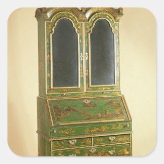 Queen Anne bureau cabinet with ball feet, c.1710 Square Sticker