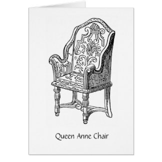 Queen Anne Chair, Greeting Card