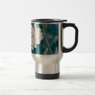 Queen Anne Lace Flower Travel Mug