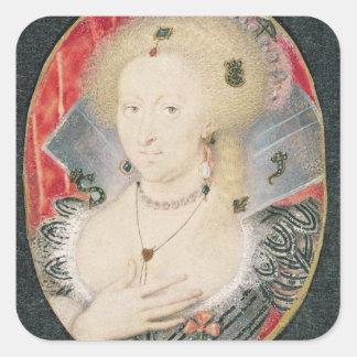 Queen Anne of Denmark, miniature Square Sticker