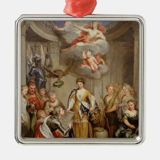 Queen Anne presenting plans of Blenheim military Metal Ornament