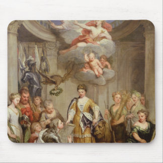 Queen Anne presenting plans of Blenheim military Mousepads