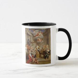 Queen Anne presenting plans of Blenheim military Mug