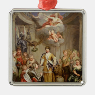 Queen Anne presenting plans of Blenheim military Christmas Ornaments