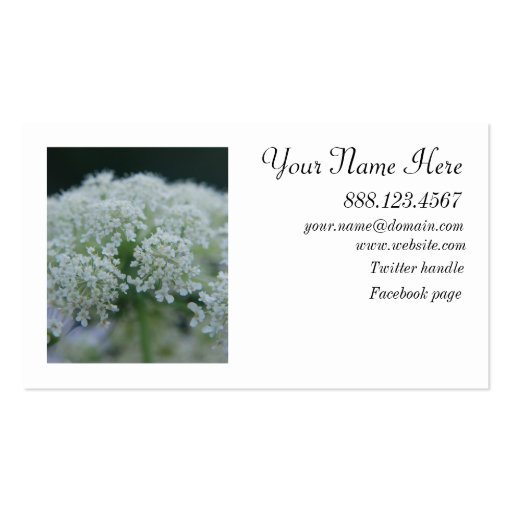 Queen Anne Profile Card with image on back Double-Sided Standard Business Cards (Pack Of 100)