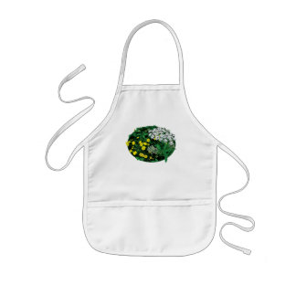Queen Anne 's Lace and Yellow Flowers Kids' Apron