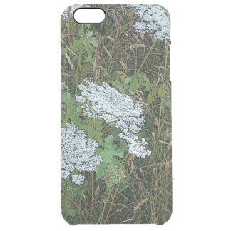 Queen Anne's Lace White Wild Flower Clear iPhone 6 Plus Case