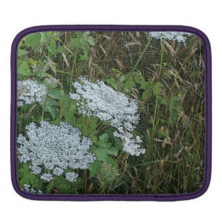 Queen Anne's Lace White Wild Flower iPad Sleeve