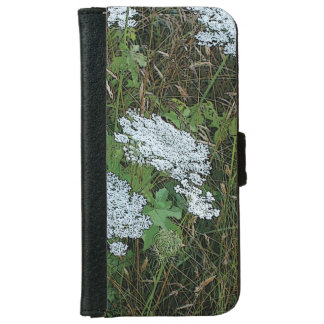 Queen Anne's Lace White Wild Flower iPhone 6/6s Wallet Case