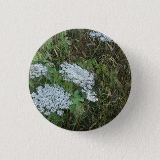 Queen Anne's Lace White Wild Flower Pinback Button