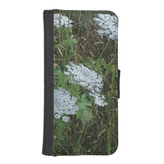 Queen Anne's Lace White Wild Flower Wallet Phone Case For iPhone SE/5/5s