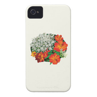 Queen Anne s Lace with Orange Flowers Blackberry Cases