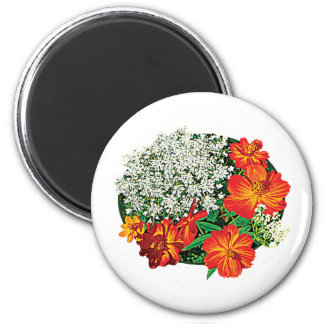 Queen Anne s Lace with Orange Flowers Magnet
