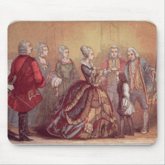Queen Anne touching Dr. Johnson Mouse Pad