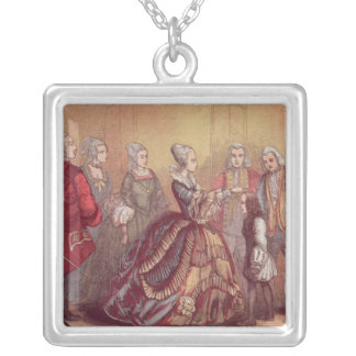 Queen Anne touching Dr. Johnson Silver Plated Necklace