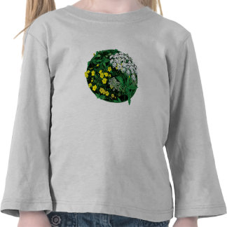 Queen Anne's Lace amd Yellow Flowers Kids Shirts