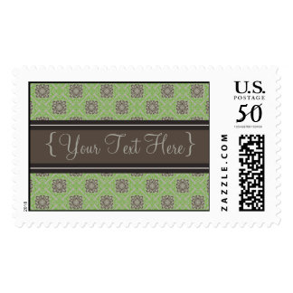 Queen Anne's Lace Apple Green Designer Postage