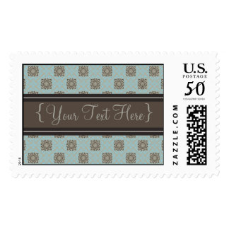 Queen Anne's Lace Baby Blue Designer Postage